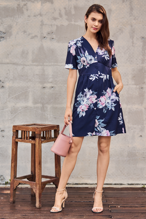 Gerrin Floral Printed Dress