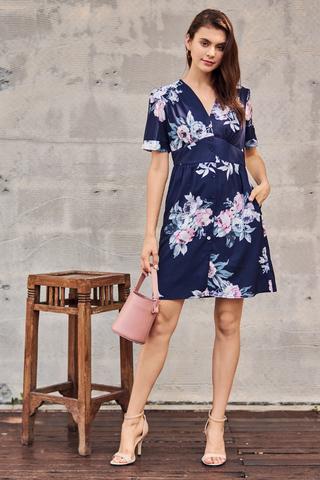 Gerrin Floral Printed Dress