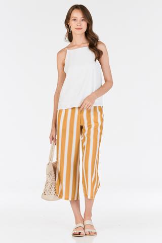 Hiranda Stripes Culottes in Mustard