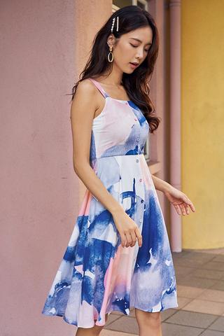 *Restock* Annice Watercolour Midi Dress