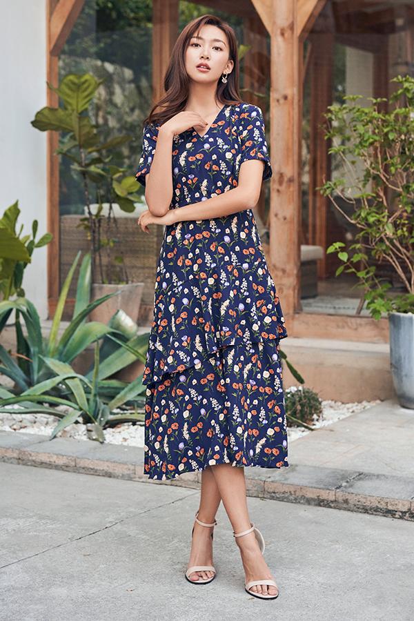 Lennia Ruffled Midi Dress