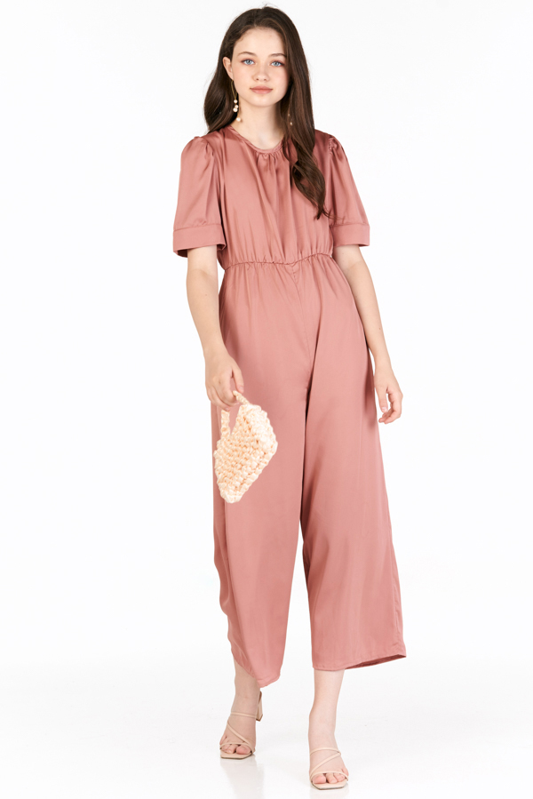 Gianni Jumpsuit in Slate Rose