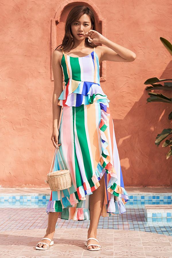 Isobel Ruffled Midi Skirt