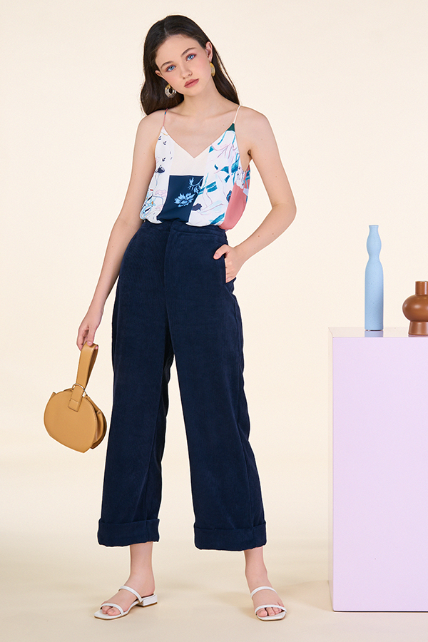 Aerith Corduroy Pants in Navy