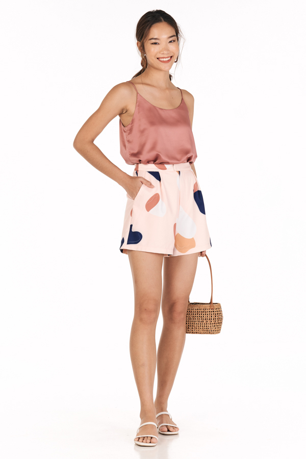 *Restock* Bayson Satin Two Way Top in Slate Rose