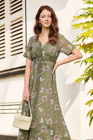 Daelia Maxi Dress in Sage