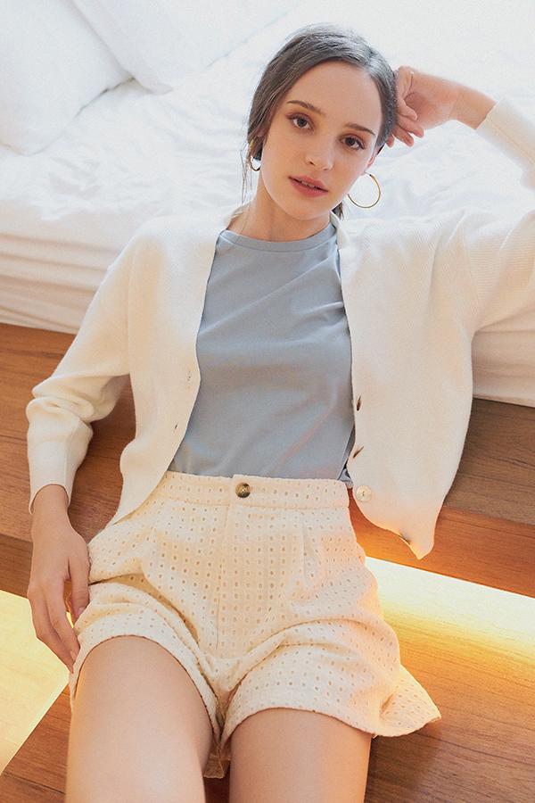 *Backorder 2* Eden Knitted Cardigan in White
