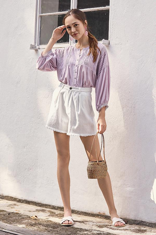 *Restock* Keyse Crochet Top in Lilac