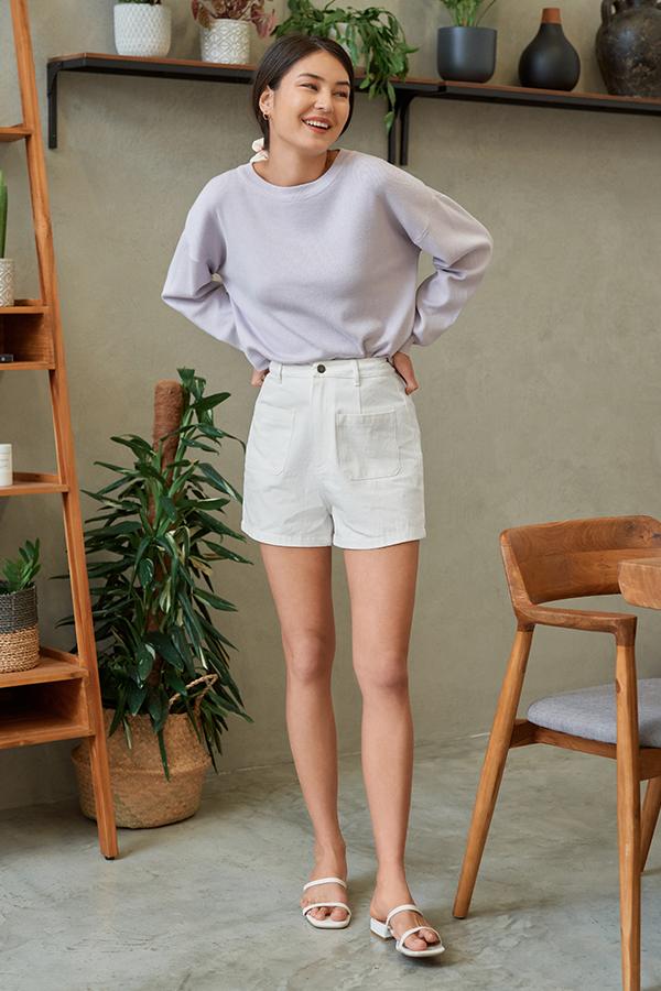 *Restock* Arietta Knitted Pullover in Lilac