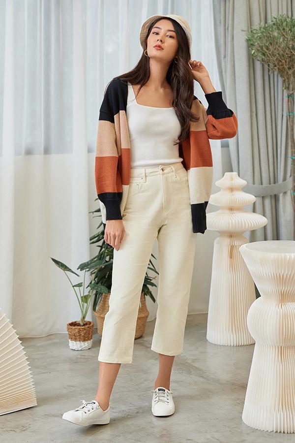 *Restock* Dyan Denim Jeans in Ivory