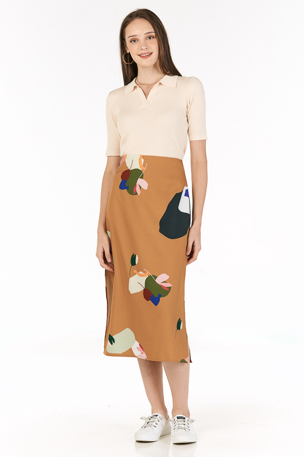 Ordell Midi Skirt in Caramel