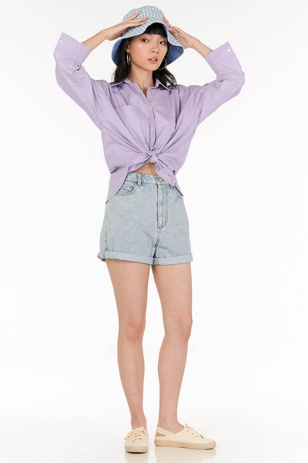 *Backorder* Cooper Oversized Shirt in Lilac