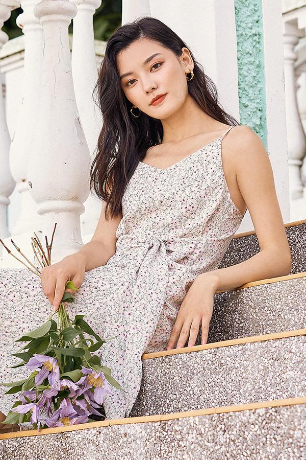 *Backorder* Rowella Slip On Midi Dress in Ivory