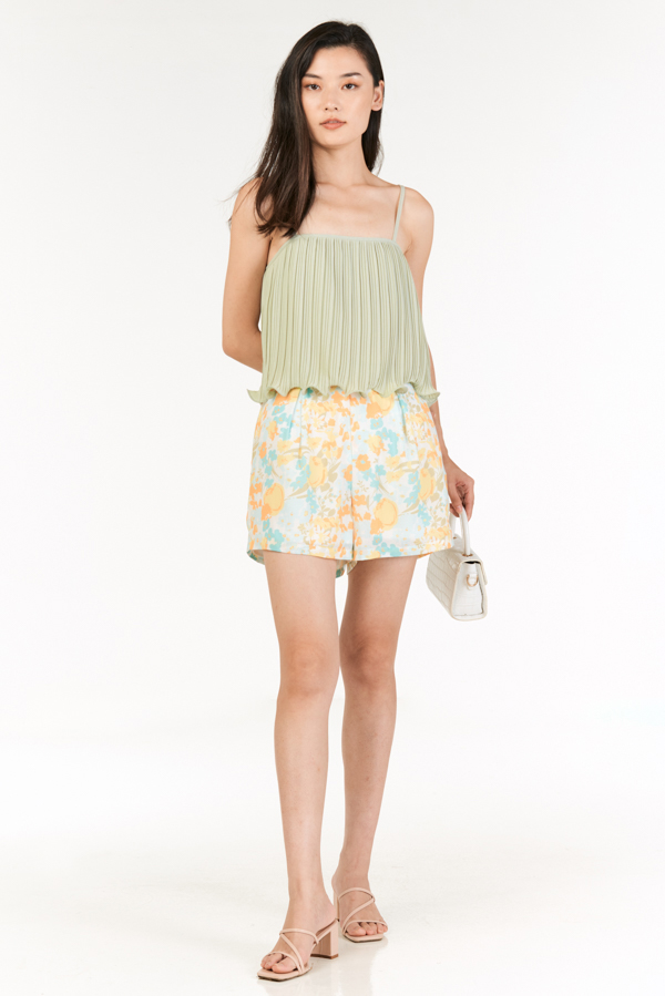 Ristelle Two Way Pleated Top in Spring Mint