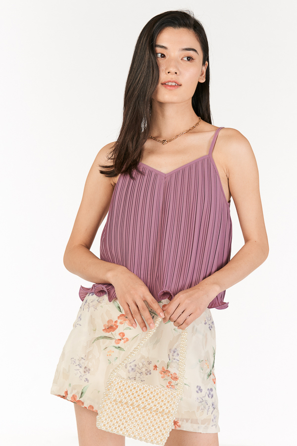 Ristelle Two Way Pleated Top in Wisteria