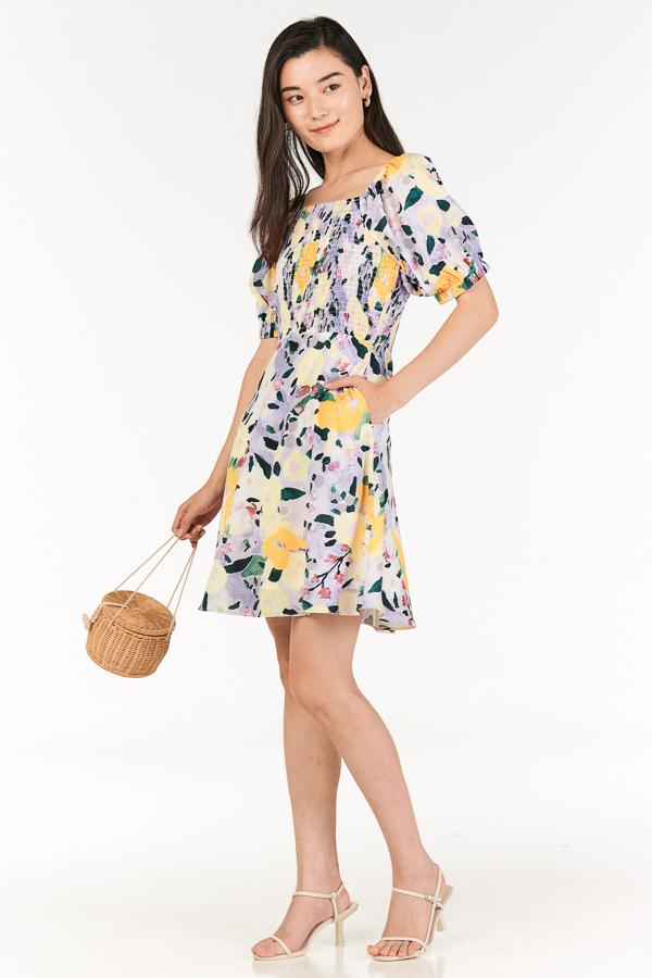 Erisa Smocked Dress in Lilac