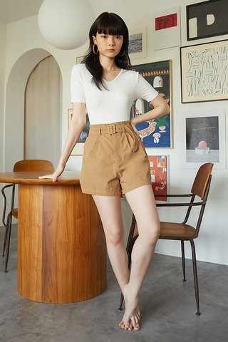 Kith Belted Shorts in Camel