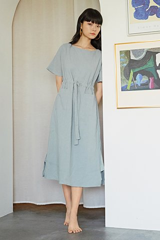 Lanno Midi Dress in Dusty Blue