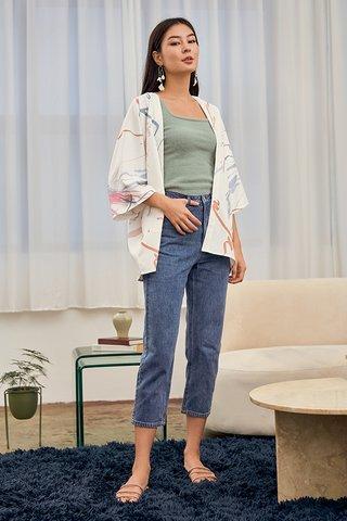 *Backorder 2* Randa Denim Jeans in Dark Wash (Cropped)