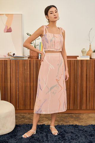 Moments Midi Skirt in Pink