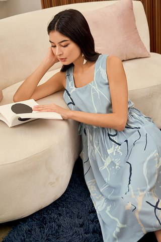 Moments Two Way Midi Dress in Blue