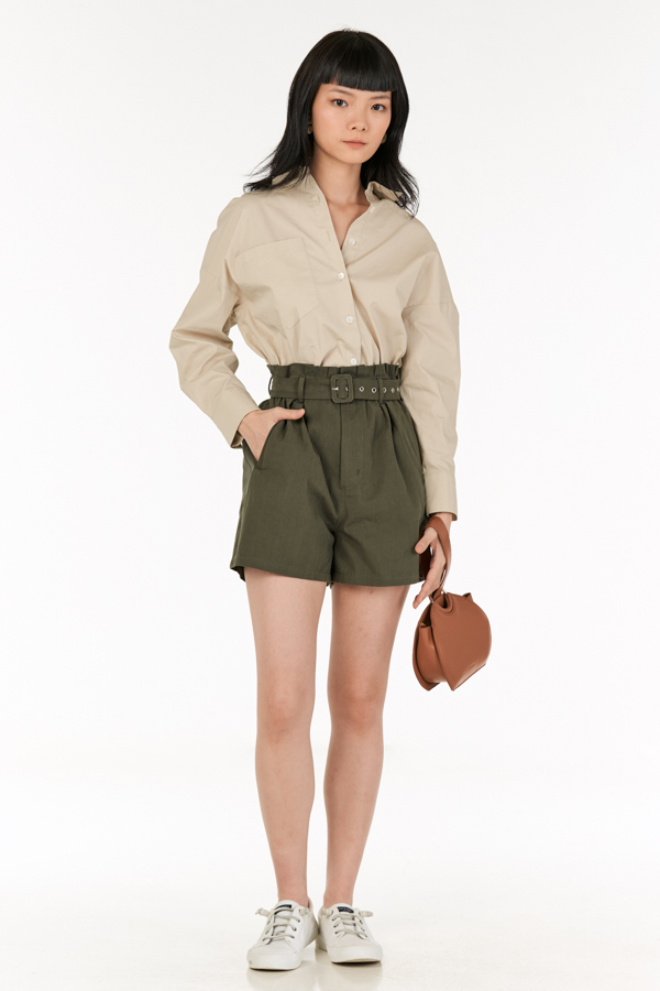 Kith Belted Shorts in Olive