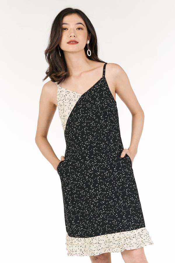 Doreen Colourblock Dress in Black