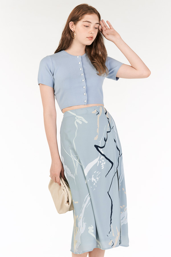 Moments Midi Skirt in Blue